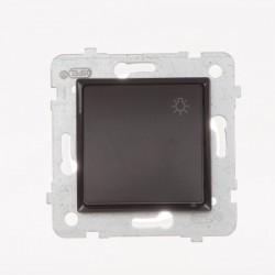 ROSA Przycisk światło bez ramki, kolor czekoladowy mat ŁP-5Q/M.CK