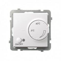 SONATA Regulator temperatury, bez ramki, kolor biały z czujnikiem podpodłogowym RTP-1R/m/00