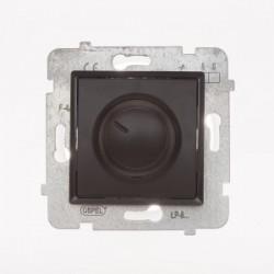 ROSA Ściemniacz przyciskowo-obrotowy bez ramki, kolor czekoladowy mat ŁP-8Q/M.CK