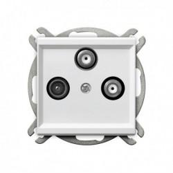 SONATA Gniazdo RTV-SAT, z dwoma wyjściami SAT, bez ramki, kolor biały GPA-R2S/m/00