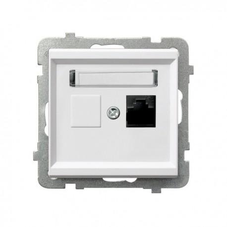 SONATA Gniazdo komputerowe, pojedyncze, kat. 5e, MMC, bez ramki, kolor biały GPK-1R/K/m/00
