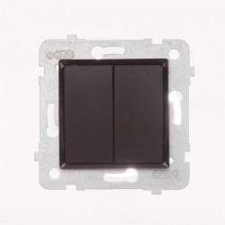 ROSA Przycisk podwójny bez ramki, kolor czekoladowy mat ŁP-17Q/M.CK