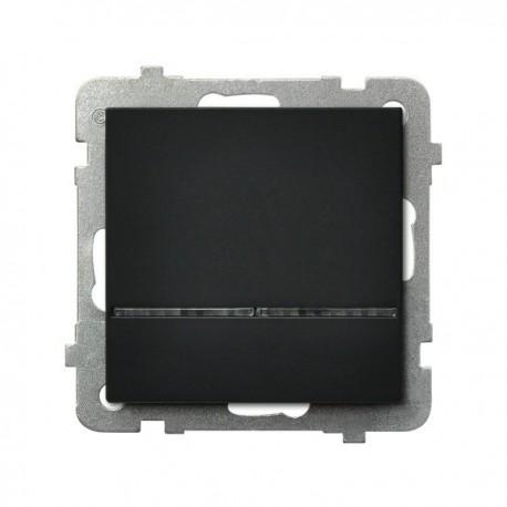 SONATA Łącznik kontrolny, z podświetleniem, bez ramki, kolor czarny metalik ŁP-12RS/m/33