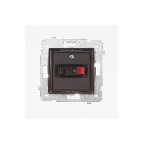 ROSA Gniazdo głośnikowe pojedyncze bez ramki, kolor czekoladowy mat GG-1Q/M.CK