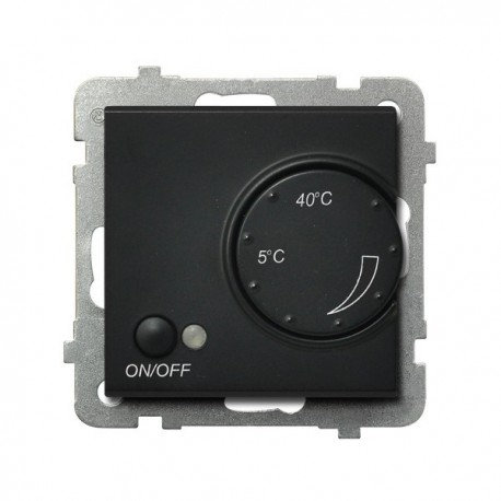 SONATA Regulator temperatury, bez ramki, kolor czarny metalik z czujnikiem podpodłogowym RTP-1R/m/33