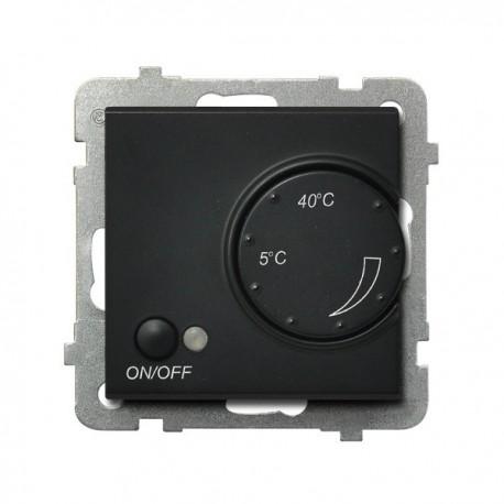 SONATA Regulator temperatury, bez ramki, kolor czarny metalik z czujnikiem napowietrznym RTP-1RN/m/33