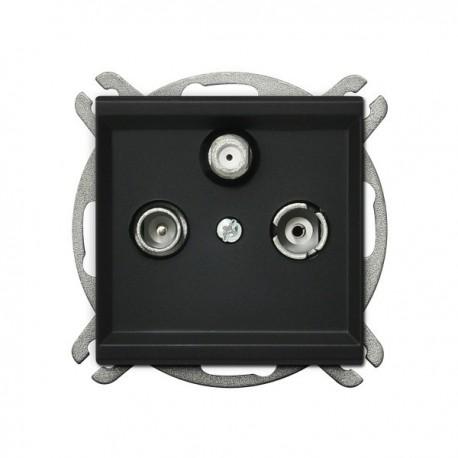 SONATA Gniazdo RTV-SAT, końcowe, bez ramki, kolor czarny metalik GPA-RS/m/33