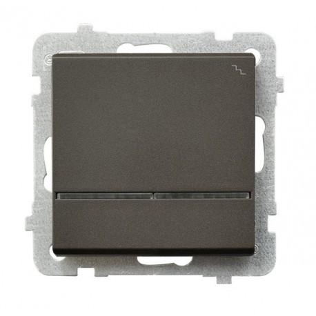 SONATA Łącznik schodowy, z podświetleniem, bez ramki, kolor czekoladowy metalik ŁP-3RS/m/40