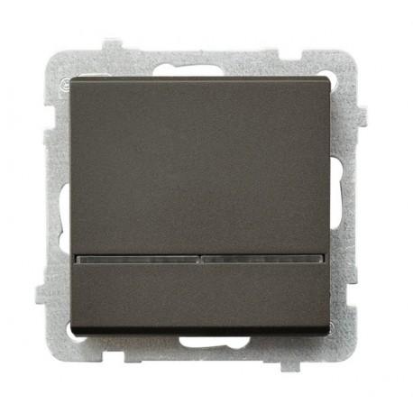 SONATA Łącznik kontrolny, z podświetleniem, bez ramki, kolor czekoladowy metalik ŁP-12RS/m/40