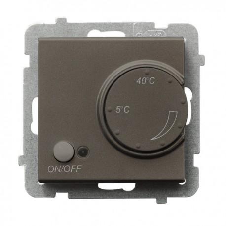 SONATA Regulator temperatury, bez ramki, kolor czekoladowy metalik z czujnikiem podpodłogowym RTP-1R/m/40