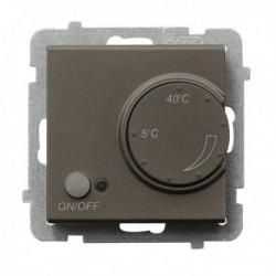 SONATA Regulator temperatury, bez ramki, kolor czekoladowy metalik z czujnikiem napowietrznym RTP-1RN/m/40