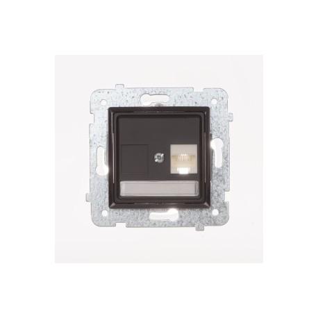ROSA Gniazdo komputerowe RJ45 pojedyncze kat. 5e bez ramki, kolor czekoladowy mat GPK-1Q/F/M.CK