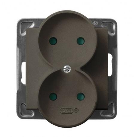 SONATA Gn. pod. do montażu w ramki  z przesł. torów prąd. bez ramki kolor czekoladowy metalik GP-2RRP/m/40