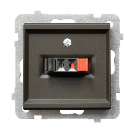 SONATA Gniazdo głośnikowe, pojedyncze, bez ramki, kolor czekoladowy metalik GG-1R/m/40