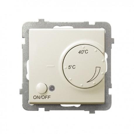 SONATA Regulator temperatury, bez ramki, kolor ecru z czujnikiem podpodłogowym RTP-1R/m/27