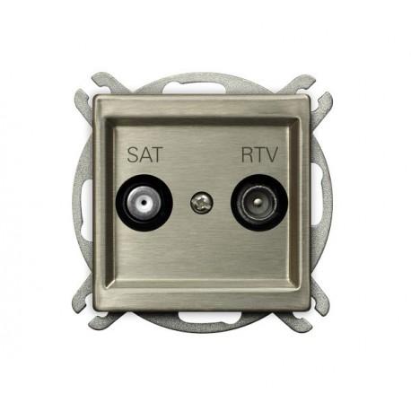 SONATA Gniazdo RTV-SAT, końcowe, bez ramki, stal INOX GPA-RMS/m/37