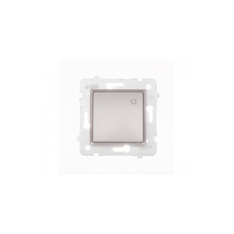 ROSA Przycisk światło bez ramki, kolor srebrny metalik ŁP-5Q/M.SR