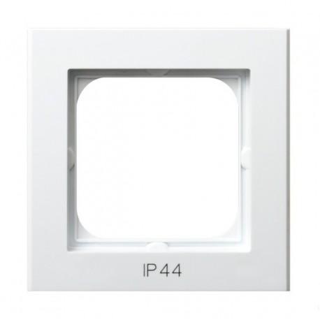 SONATA Ramka pojedyncza do łączników IP44, biały RH-1R/00