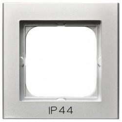 SONATA Ramka pojedyncza do łączników IP44, srebro mat RH-1R/38