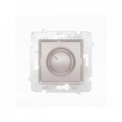 ROSA Ściemniacz przyciskowo-obrotowy bez ramki, kolor srebrny metalik ŁP-8Q/M.SR