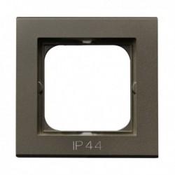 SONATA Ramka pojedyncza do łączników IP44, czekoladowy metalik RH-1R/40