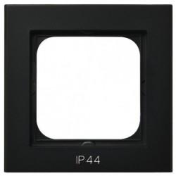 SONATA Ramka pojedyncza do łączników IP44, czarny metalik RH-1R/33