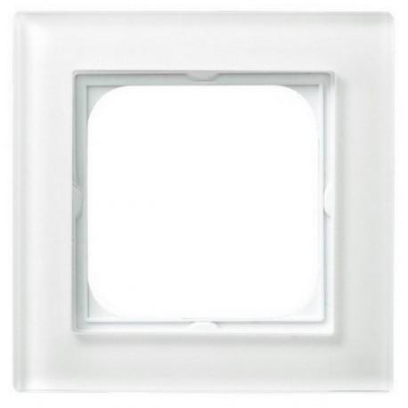 SONATA Ramka pojedyncza, szklana biała R-1RG/31