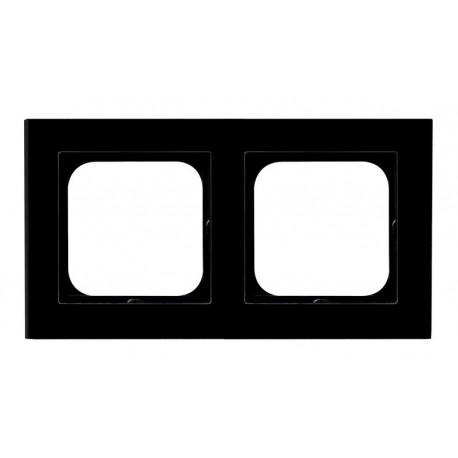 SONATA Ramka podwójna, szklana czarna R-2RG/32