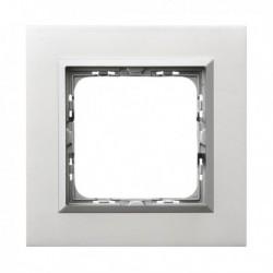 SONATA Ramka pojedyncza, aluminium,  ALUMINIUM + RAMKA SREBRNA R-1RAC/35/38