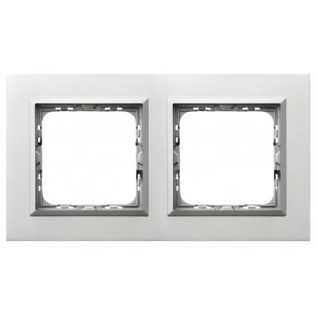 SONATA Ramka podwójna, aluminium,  ALUMINIUM + RAMKA SREBRNA R-2RAC/35/38