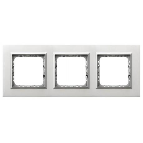 SONATA Ramka potrójna, aluminium,  ALUMINIUM + RAMKA SREBRNA R-3RAC/35/38