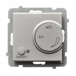 SONATA Regulator temperatury, bez ramki, kolor srebro mat z czujnikiem napowietrznym RTP-1RN/m/38