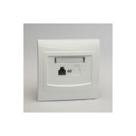 VEGA Gniazdo telefoniczne RJ11 pojedyncze kolor biały GPT-1V.BI
