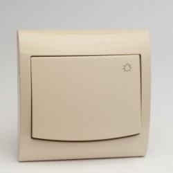 VEGA Przycisk -światło- kolor jasny beż ŁP-5V.JB