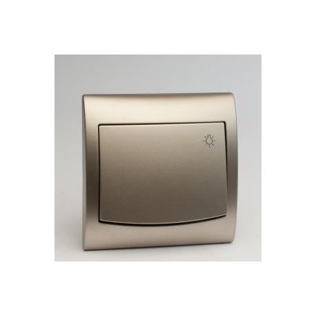 VEGA Przycisk -światło- kolor satyna ŁP-5V.ST