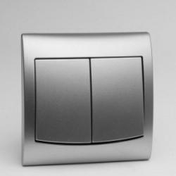 VEGA Łącznik podwójny (świecznikowy) kolor srebro ŁP-2V.SR