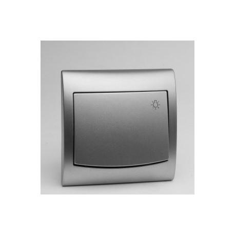 VEGA Przycisk -światło- kolor srebro ŁP-5V.SR