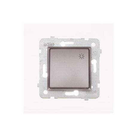 ROSA Przycisk światło bez ramki, kolor tytanowy metalik ŁP-5Q/M.TY
