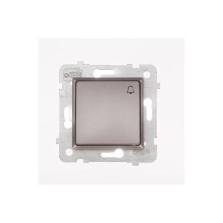 ROSA Przycisk dzwonek bez ramki, kolor tytanowy metalik ŁP-6Q/M.TY