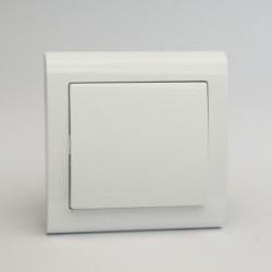 AURA Łącznik pojedynczy (jednobiegunowy) kolor biały (ŁP-1U.BI)