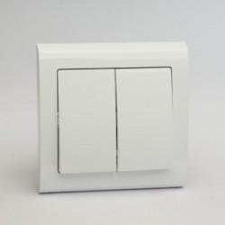 AURA Łącznik podwójny (świecznikowy) kolor biały (ŁP-2U.BI)