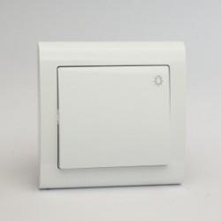 AURA Przycisk światło kolor biały (ŁP-5U.BI)