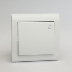 AURA Przycisk dzwonek kolor biały (ŁP-6U.BI)