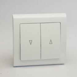 AURA Przycisk żaluzjowy kolor biały (ŁP-7U.BI)