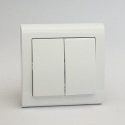 AURA Łącznik podwójny schodowy kolor biały (ŁP-10U)