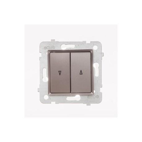 ROSA Przycisk żaluzjowy bez ramki, kolor tytanowy metalik ŁP-7Q/M.TY