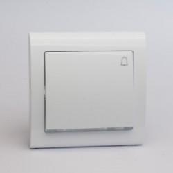 AURA Przycisk dzwonek z podświetleniem kolor biały (ŁP-6US.BI)