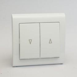AURA Przycisk żaluzjowy z podświetleniem kolor biały (ŁP-7US.BI)