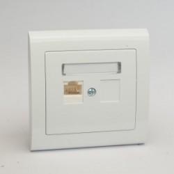 AURA Gniazdo komputerowe RJ45 pojedyncze kat. 5e kolor biały (GPK-1U/F.BI)