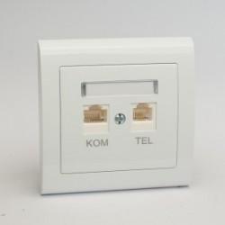 AURA Gniazdo komputerowo RJ45 -telefoniczne RJ11 kolor biały (GPKT-1U/F.BI)